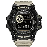 Watch VOEONS Digital Watch, 165FT Waterproof Military Running Sports Watch for Men & Boys, Outdoor Work Wrist Watch - Alarm, Stopwatch, Back Light - Gray