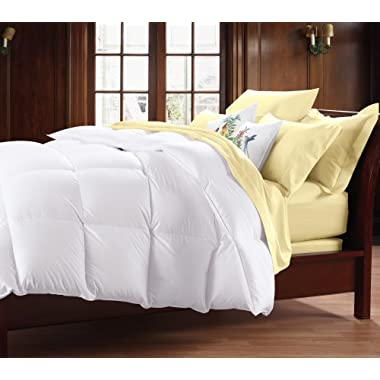 Cuddledown 400TC Down Comforter, King, Level 1, White