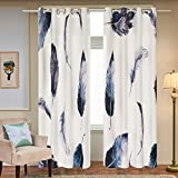 Fassbel 2 Panel Set Digital Printed Window Curtains for Bedroom Living Room Dining Room Kids Youth Room Window Drapes (W54× L63 Feather) Review