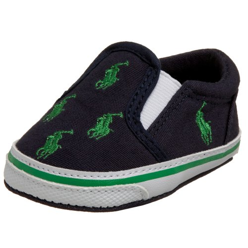 (Ralph Lauren Layette Bal Harbour Crib Shoe (Infant/Toddler),Navy,0 M US Infant)