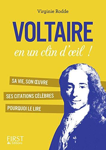 Petit Livre De Voltaire En Un Clin D Oeil Le Petit Livre