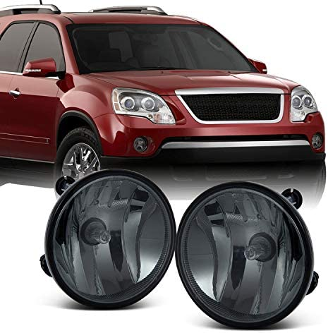 For GMC Acadia Chevy Avalanche Suburban Escape Tahoe Yukon Bumper Clear Fog Lights w/Bulbs Replacement