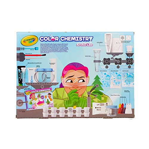 51KXR7oc%2BFL - Crayola Artic Color Chemistry Set for Kids, Steam/Stem Activities, Educational Toy, Ages 7, 8, 9, 10