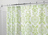 mDesign Toile Fabric Shower Curtain - 72' x 72', Lime Green
