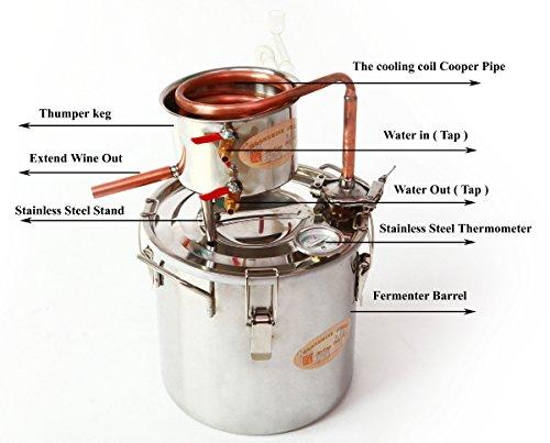 Wmn trulystep msc03 copper alcohol moonshine ethanol still for Copper water boiler