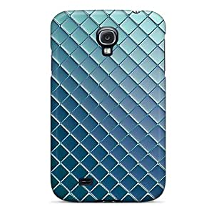 Perfect Fit OOk6400JZvZ Silver Blue Metallic Case For Galaxy - S4