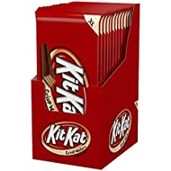 KIT KAT Candy Bar, Milk Chocolate Covered Crisp Wafers, 4.5 Ounce Bar (Pack of 12)
