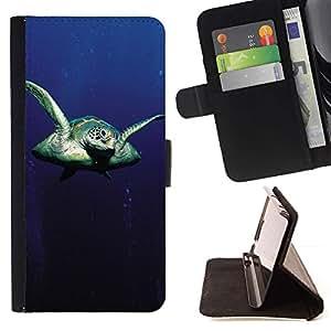 Momo Phone Case / Flip Funda de Cuero Case Cover - Tortuga Sear - LG OPTIMUS L90