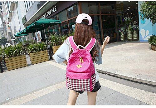 JSbetter - Bolso mochila  para mujer Rosa rosa Rosa