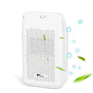 Amzdeal Deshumidificador - eléctrico Deshumidificador de bajo consumo, Secadora de 2000ML contra humedad y moho, para dormitorio, cocina y oficina etc, blanco