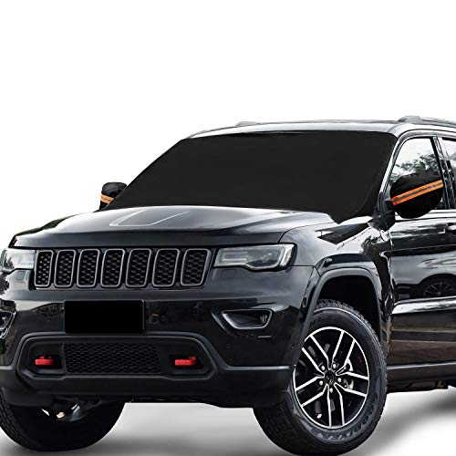 85 49 Secure Tight Wind/&Rain Resistant Waterproof Magnetic Windshield/&Side Mirror Cover.Perfect Vehicle Protection from rain,UV Rays,Snow,Frost.Free Storing Pouch. All New 2020 Edition
