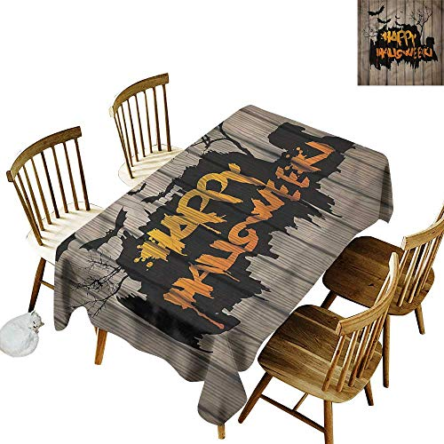 one1love Tablecloth for Kids/Childrens Halloween Quote Bats Art Dinner Picnic Table Cloth Home Decoration 60