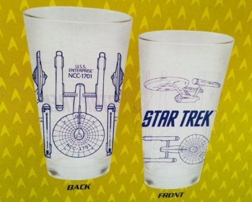 Action Fleet Boxed (Star Trek The Original Series Enterprise Blueprints Glass Tumblers boxed set of two 1 pint glasses (16 oz))