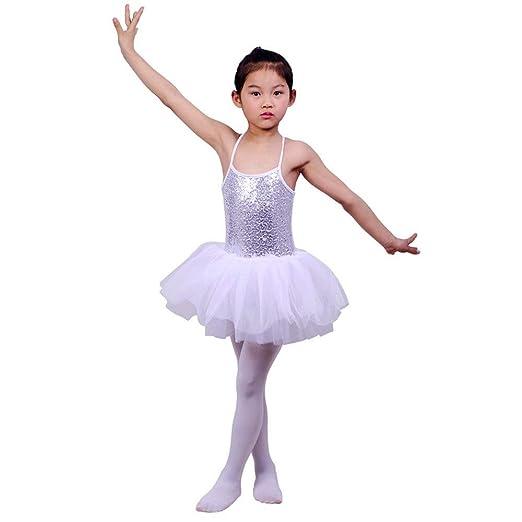 Faldas de danza para niña, Niños Niñas Lentejuelas Camisola Ballet ...
