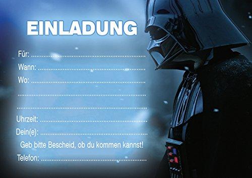 10 Einladungen Zum Kindergeburtstag Star Wars In German Amazon De