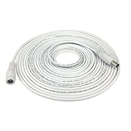 5m 16.4 ft 5.5mm x 2.1mm DC Plug Extension Cable...