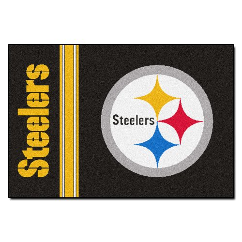 (FANMATS NFL Pittsburgh Steelers Nylon Face Starter Rug)