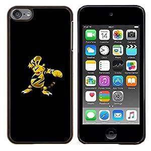 Meter Monster abeja amarillo- Metal de aluminio y de plástico duro Caja del teléfono - Negro - iPod Touch 6