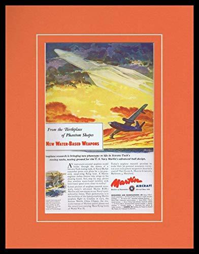 1952 Martin Aircraft Framed 11x14 ORIGINAL Vintage Advertisement