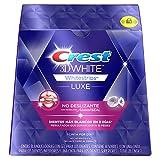 Crest 3D White luxe Whitestrips Tiras Blanqueadoras Dentales con Gel, 28 unidades
