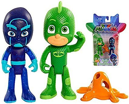 PJ Masks - GEKKO and NIGHT NINJA Action Figure 2-pack