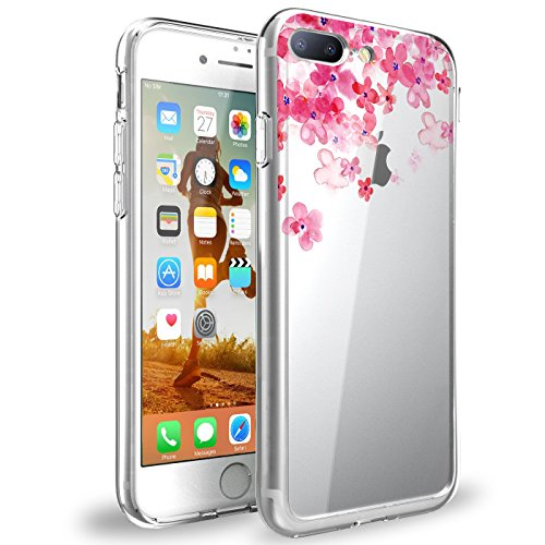 Price comparison product image Beryerbi iPhone 8 Plus Case Shock-Absorption Bumper Anti-Scratch Clear Cover for Apple iPhone 8 Plus (1, iPhone 8 Plus)