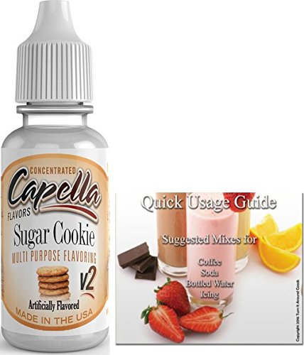 Capella Flavor Drops Concentrated & Quick Start Guide Bundle (Sugar Cookie V2, 13ml)