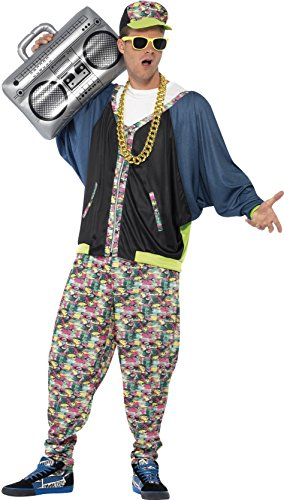 Men's 80's Hip Hop Costume, Jacket, Pants and Hat