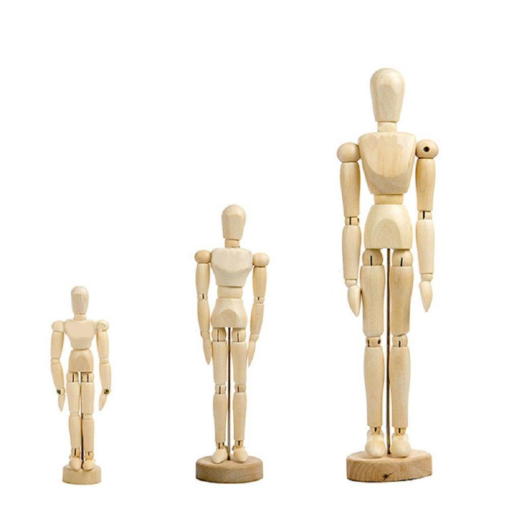 Wooden Human Mannequin Movable Limbs Human Artist Wooden Manikin Drawing Mannequin Model (12in) ERMAKOVA