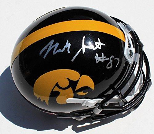 - Noah Fant Signed Iowa Hawkeyes Mini Football Helmet w/COA C - Autographed College Mini Helmets