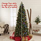7.5-Foot Tall Pre-Lit Cone & Berry Christmas Tree