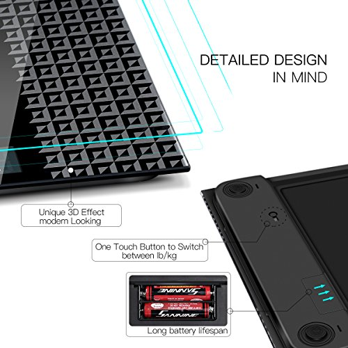 Digital Weight Scale Large Display Matte Platform, 400 Pounds,