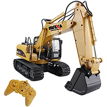 RC Truck Remote Control Excavator Crawler Tractor 15 Channel 2.4G Construction Vehicle Digger Electronics Hobby Toys with Simulation Sound and Flashing ...