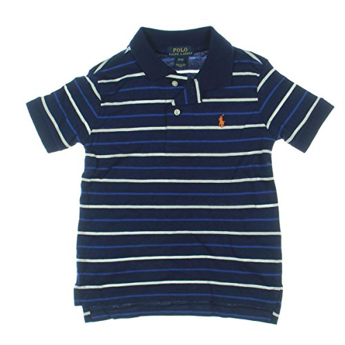 Polo Ralph Lauren Toddler's Striped Polo Shirt Navy - India Ralph Lauren Polo