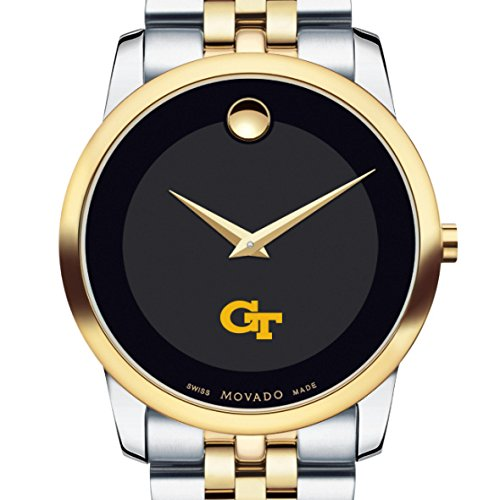 Georgia-Tech-Mens-Movado-Two-Tone-Museum-Classic-Bracelet
