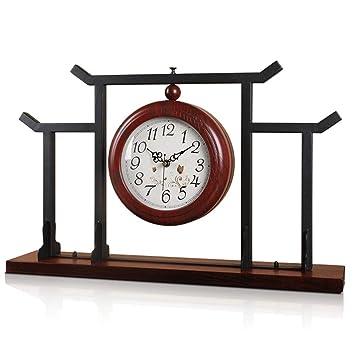 *reloj de mesa Reloj de mesa de doble cara Sala de estar Decoración Dormitorio Relojes