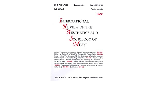 International Review of Aesthetics and Sociology of Music