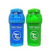 Twistshake 2x Anti-Colic 180ml / 6oz Blue / Green