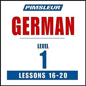 German Level 1 Lessons 16-20 Speech