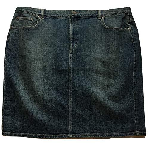 Lauren Ralph Lauren Women's Denim Above Knee Skirt, Sedona Wash, Size 22W -
