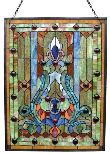 - Chloe Lighting Stained Glass Victorian Window Panel 18X24