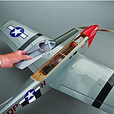 Great Planes P-51 Mustang Radio Controlled Glow or Electric-Powered Almost Ready-to-Fly Sport Fighter Airplane