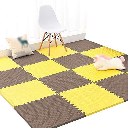 I YAYADU-tapis puzzle en mousse Coupe Libre Couture Créative Prougeection Contre Le Froid Faible Bruit Conception épaissie MultiCouleure Parc D'attractions (Couleur   B, Taille   8PCS) 12PCS