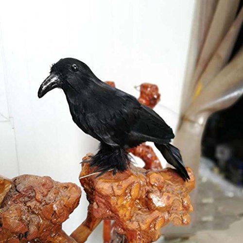 BESTOYARD Crow Raven Props Artificial Crow Raven Black Bird Halloween Displays Decorations