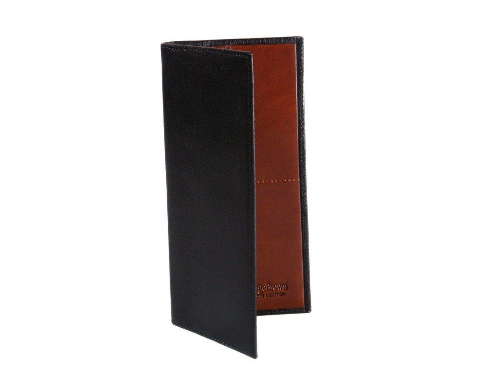 SAGEBROWN Black With Tan Slim Top Pocket Wallet by Sage Brown (Image #2)