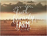 Jada Venia 9.75''X7.75'' Hay Bales Faith Family Farm Light Box Insert