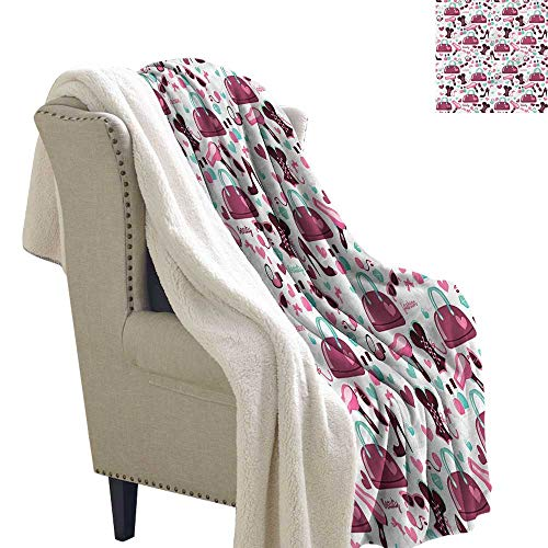 (Camerofn Girls Berber Fleece Blanket Fashion Beauty Corset Purse Print Digital Printing Blanket 60x78 Inch)