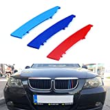 for 05-08 BMW 3 Series E90 E91 (12 Grilles one Side) 3D M Styling...