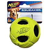 Nerf Dog 3.5in Bash Rubber Wrapped Tennis Ball – Green, Dog Toy