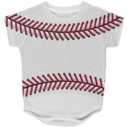 Baseball Costume 12 Months (Halloween Baseball Costume All Over Baby One Piece Multi 12 Month)